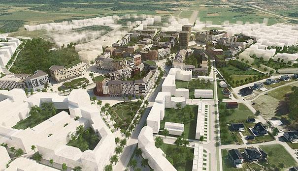 Visionbild över Barkarbystaden IV